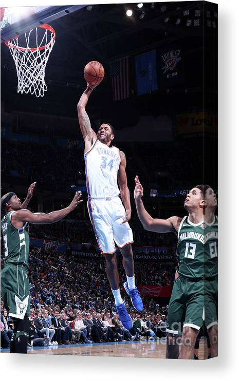 Nba Pro Basketball Canvas Print featuring the photograph Josh Huestis by Nathaniel S. Butler
