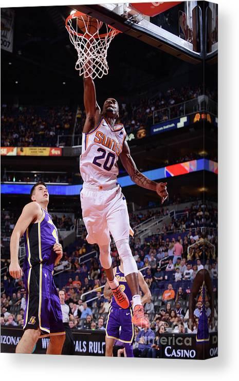 Nba Pro Basketball Canvas Print featuring the photograph Josh Jackson by Michael Gonzales