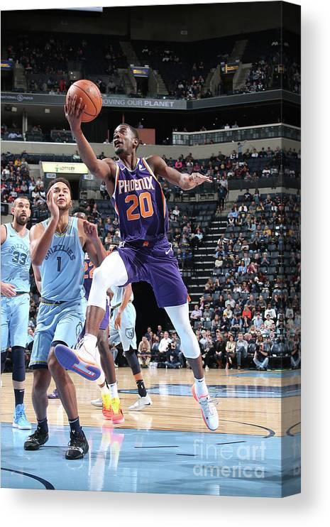 Nba Pro Basketball Canvas Print featuring the photograph Josh Jackson by Ned Dishman