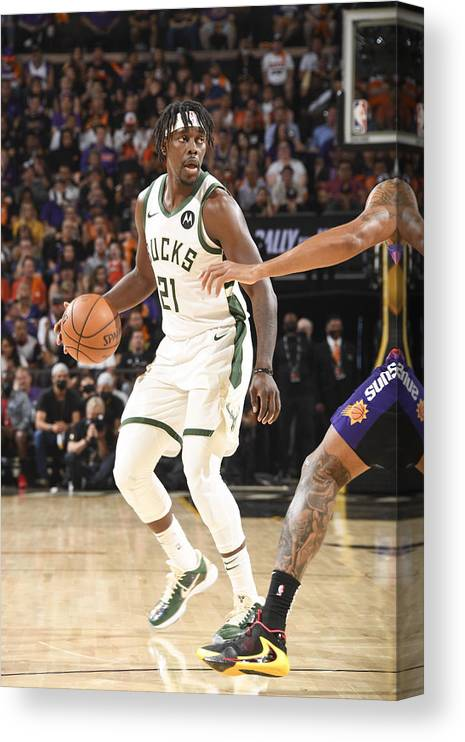 Playoffs Canvas Print featuring the photograph Jrue Holiday by Andrew D. Bernstein