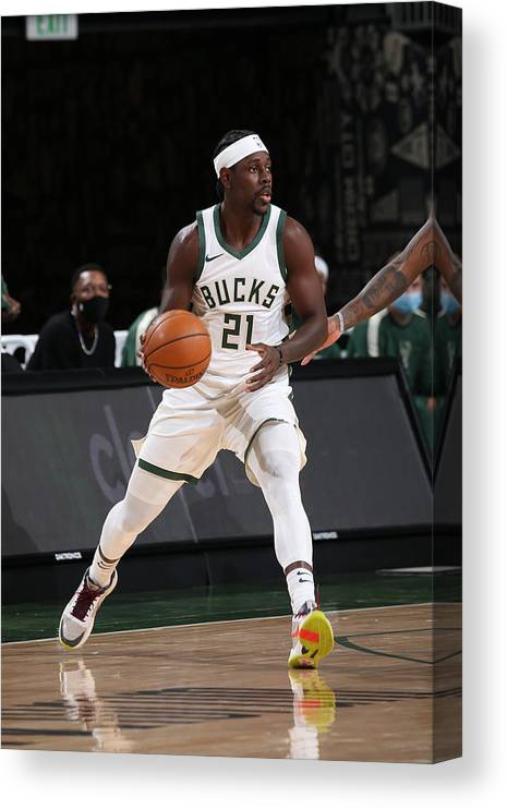 Nba Pro Basketball Canvas Print featuring the photograph Jrue Holiday by Gary Dineen