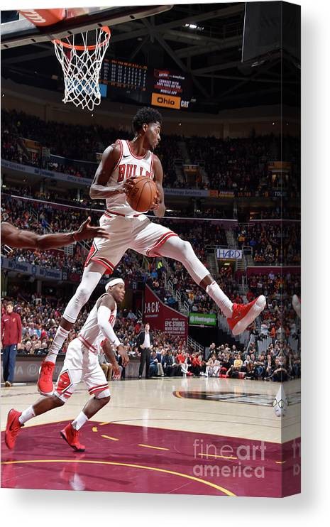 Nba Pro Basketball Canvas Print featuring the photograph Justin Holiday by David Liam Kyle