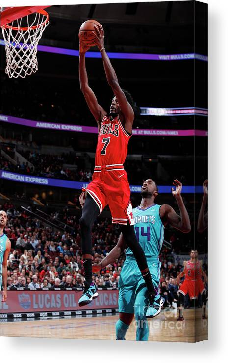 Nba Pro Basketball Canvas Print featuring the photograph Justin Holiday by Jeff Haynes