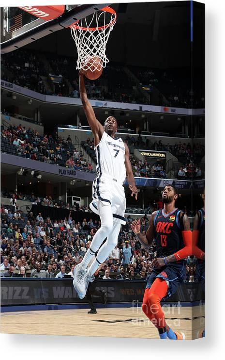 Nba Pro Basketball Canvas Print featuring the photograph Justin Holiday by Joe Murphy