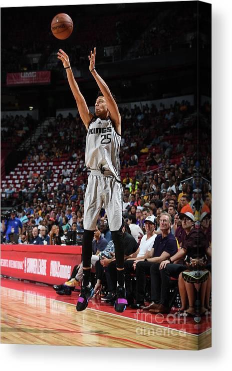 Nba Pro Basketball Canvas Print featuring the photograph Justin Jackson by Garrett Ellwood