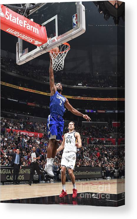 Nba Pro Basketball Canvas Print featuring the photograph Kawhi Leonard by Adam Pantozzi