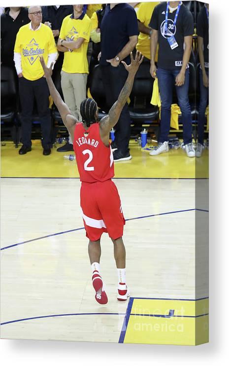 Playoffs Canvas Print featuring the photograph Kawhi Leonard by Joe Murphy