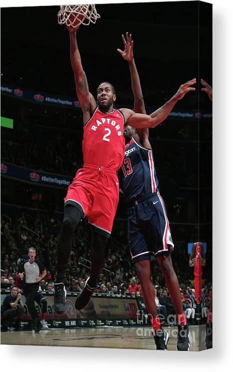 Nba Pro Basketball Canvas Print featuring the photograph Kawhi Leonard by Ned Dishman
