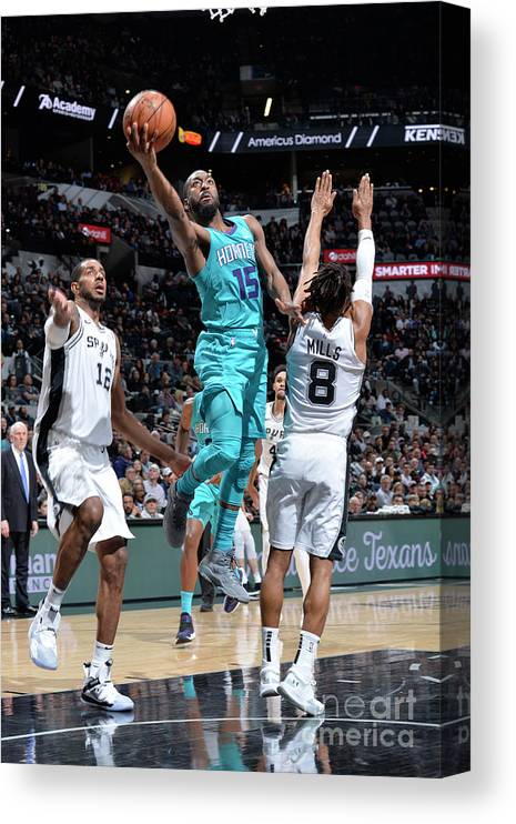 Kemba Walker Canvas Print featuring the photograph Kemba Walker by Mark Sobhani