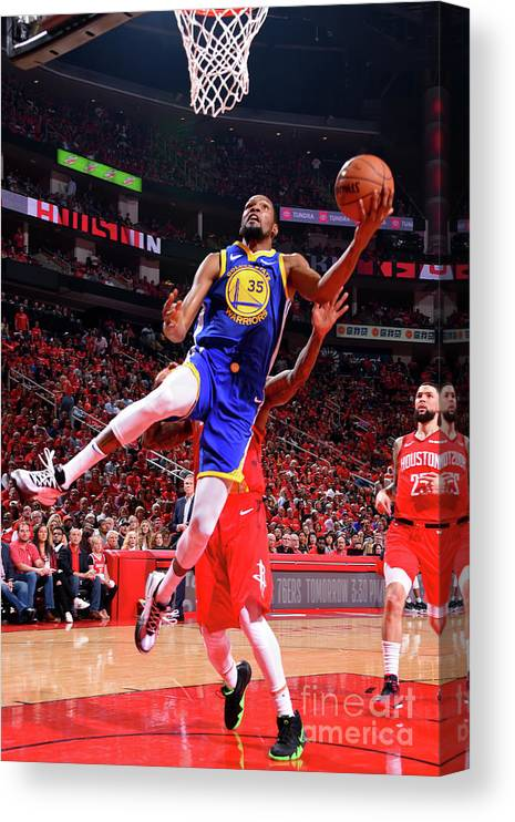Playoffs Canvas Print featuring the photograph Kevin Durant by Bill Baptist