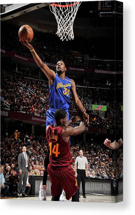 Nba Pro Basketball Canvas Print featuring the photograph Kevin Durant by David Liam Kyle