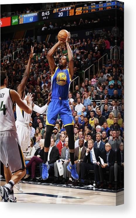 Nba Pro Basketball Canvas Print featuring the photograph Kevin Durant by Garrett Ellwood