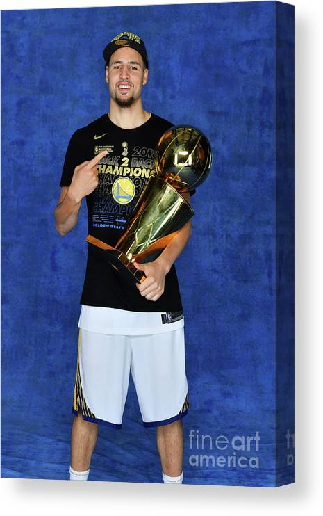 Playoffs Canvas Print featuring the photograph Klay Thompson by Jesse D. Garrabrant