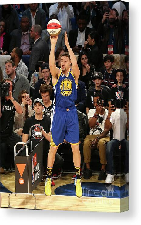 Event Canvas Print featuring the photograph Klay Thompson by Layne Murdoch