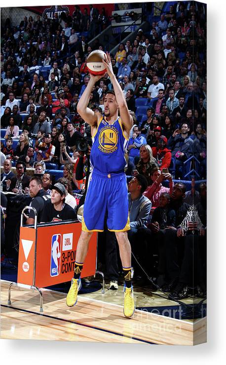 Event Canvas Print featuring the photograph Klay Thompson by Nathaniel S. Butler