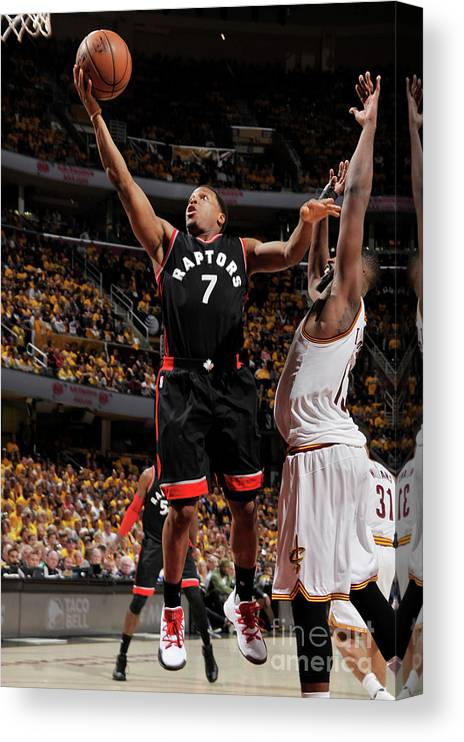 Playoffs Canvas Print featuring the photograph Kyle Lowry by David Liam Kyle