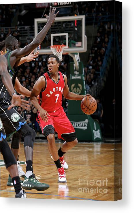Playoffs Canvas Print featuring the photograph Kyle Lowry by Gary Dineen
