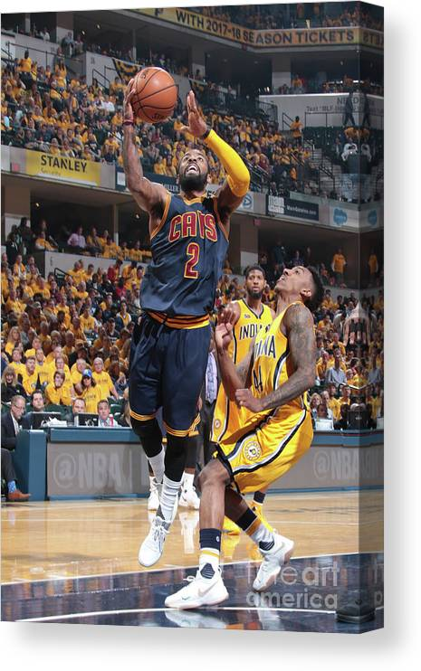Playoffs Canvas Print featuring the photograph Kyrie Irving by Ron Hoskins