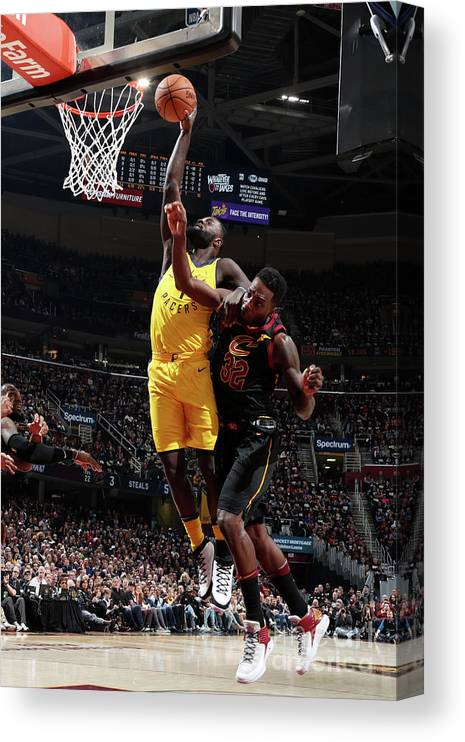 Playoffs Canvas Print featuring the photograph Lance Stephenson by Nathaniel S. Butler
