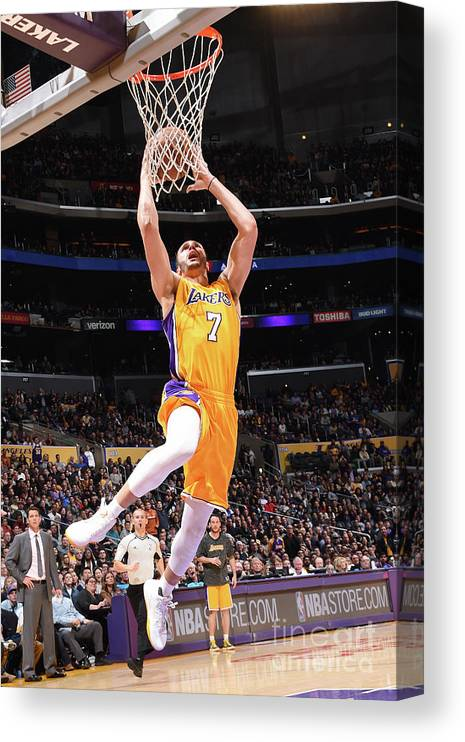 Nba Pro Basketball Canvas Print featuring the photograph Larry Nance by Andrew D. Bernstein