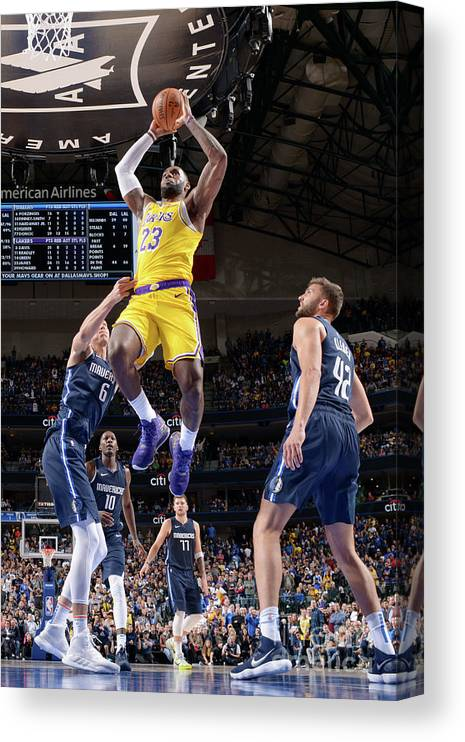Nba Pro Basketball Canvas Print featuring the photograph Lebron James by Glenn James