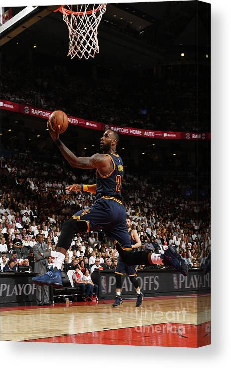 Playoffs Canvas Print featuring the photograph Lebron James by Ron Turenne