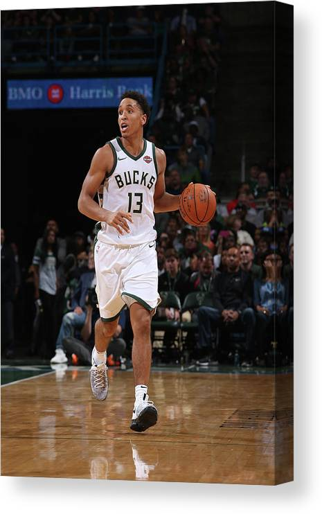 Nba Pro Basketball Canvas Print featuring the photograph Malcolm Brogdon by Gary Dineen