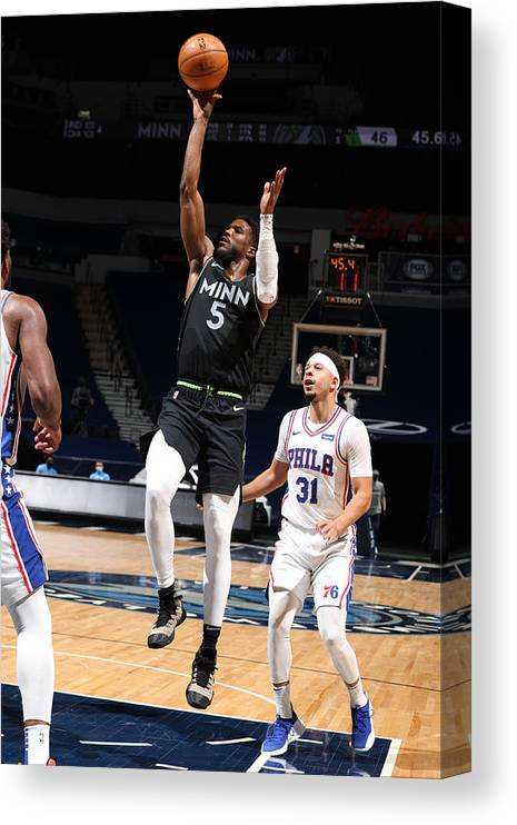 Nba Pro Basketball Canvas Print featuring the photograph Malik Beasley by David Sherman