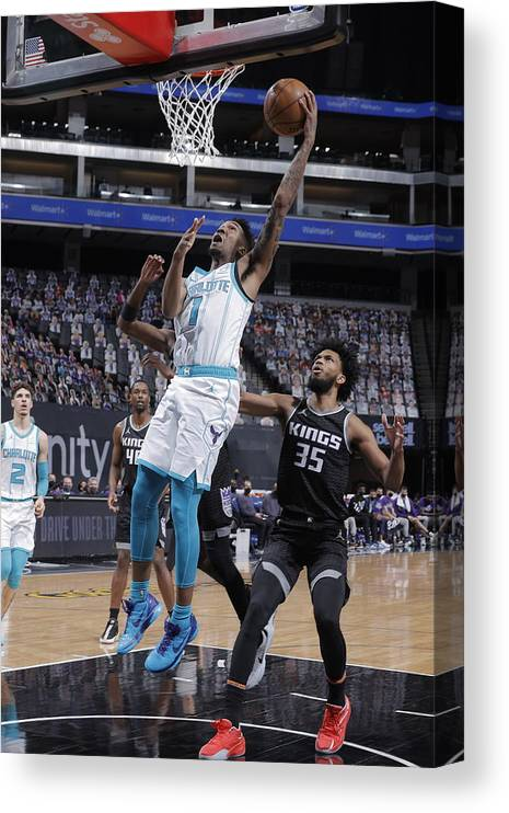 Nba Pro Basketball Canvas Print featuring the photograph Malik Monk by Rocky Widner