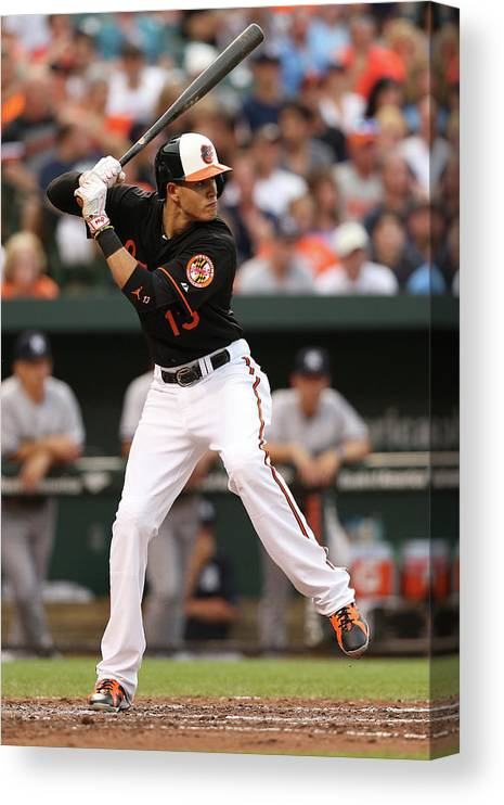 People Canvas Print featuring the photograph Manny Machado by Patrick Smith