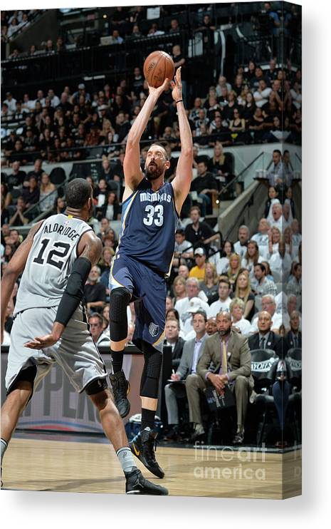 Playoffs Canvas Print featuring the photograph Marc Gasol by Mark Sobhani
