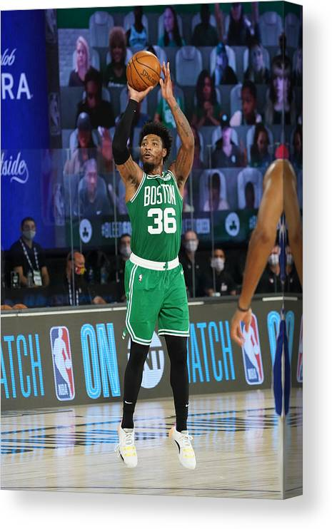 Playoffs Canvas Print featuring the photograph Marcus Smart by Jesse D. Garrabrant