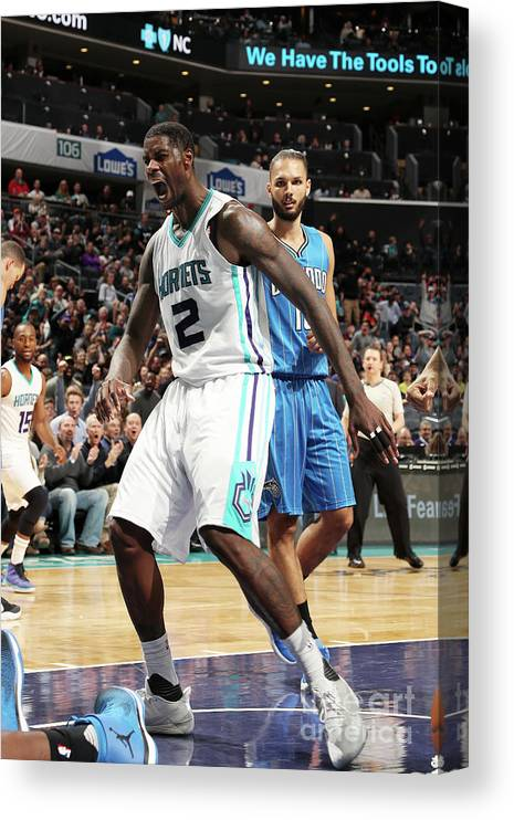 Nba Pro Basketball Canvas Print featuring the photograph Marvin Williams by Kent Smith