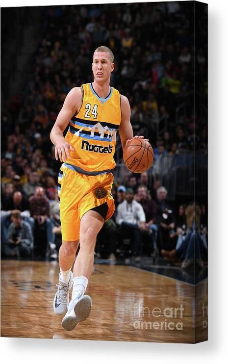 Nba Pro Basketball Canvas Print featuring the photograph Mason Plumlee by Garrett Ellwood
