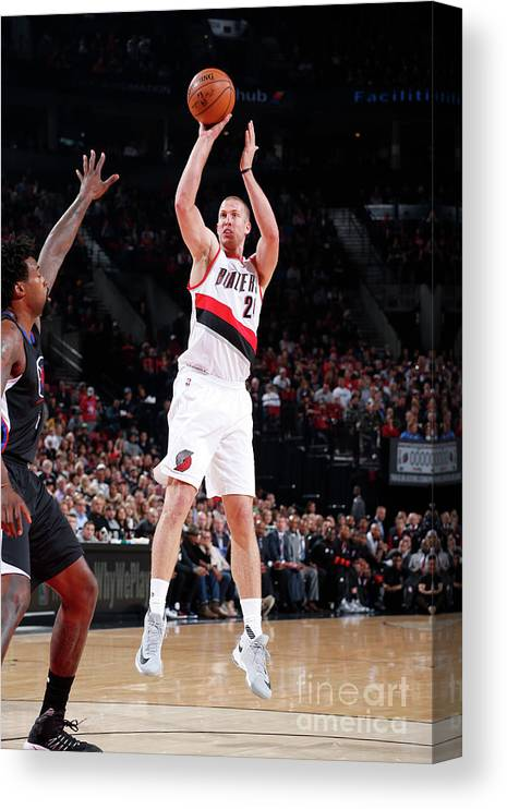 Nba Pro Basketball Canvas Print featuring the photograph Mason Plumlee by Sam Forencich