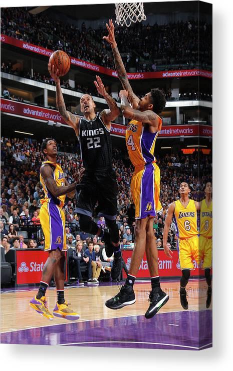 Nba Pro Basketball Canvas Print featuring the photograph Matt Barnes by Rocky Widner