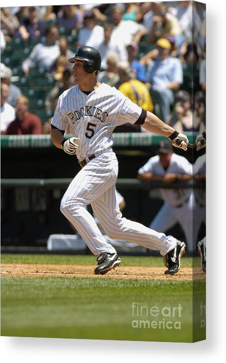 Motion Canvas Print featuring the photograph Matt Holliday by John Williamson