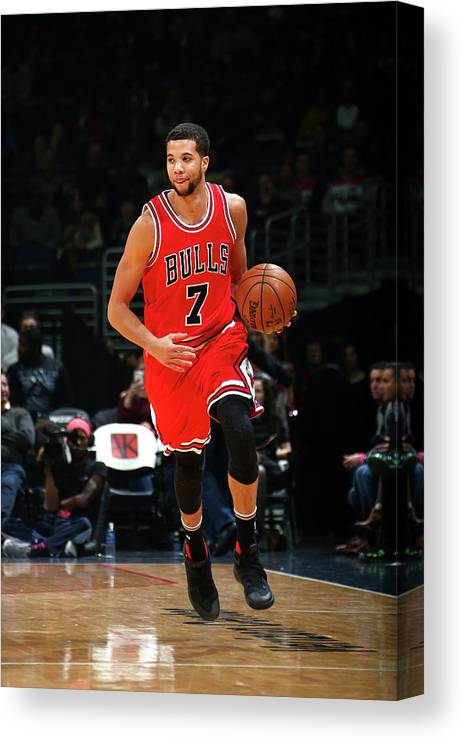 Nba Pro Basketball Canvas Print featuring the photograph Michael Carter-williams by Ned Dishman