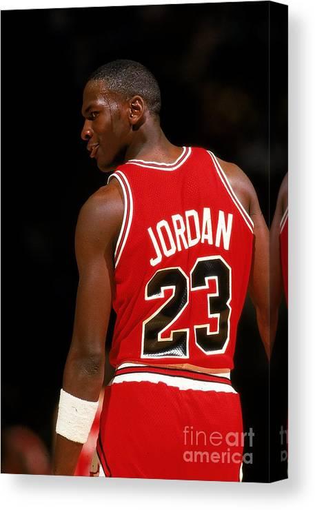 Chicago Bulls Canvas Print featuring the photograph Michael Jordan by Scott Cunningham