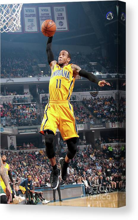 Nba Pro Basketball Canvas Print featuring the photograph Monta Ellis by Ron Hoskins