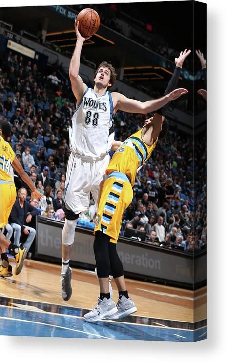 Nba Pro Basketball Canvas Print featuring the photograph Nemanja Bjelica by David Sherman