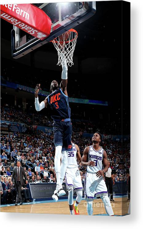 Nba Pro Basketball Canvas Print featuring the photograph Nerlens Noel by Joe Murphy