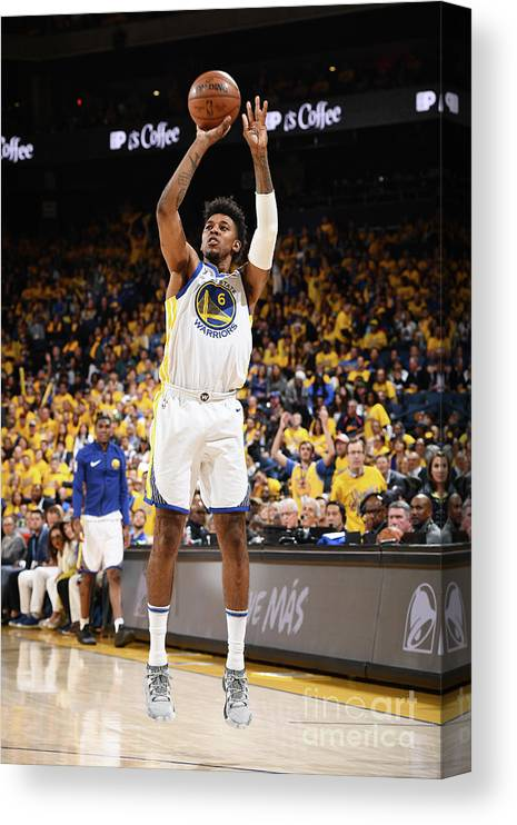 Playoffs Canvas Print featuring the photograph Nick Young by Garrett Ellwood
