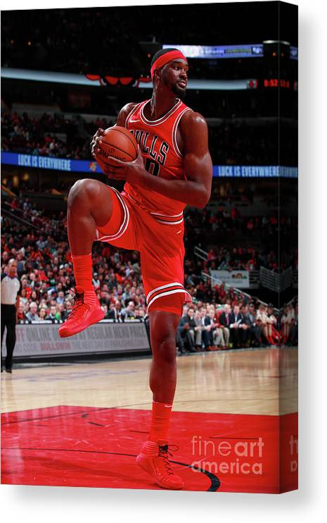 Nba Pro Basketball Canvas Print featuring the photograph Noah Vonleh by Jeff Haynes