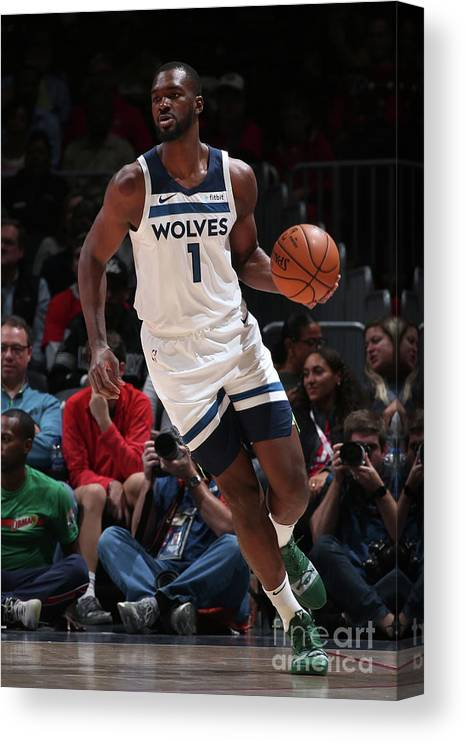 Nba Pro Basketball Canvas Print featuring the photograph Noah Vonleh by Ned Dishman