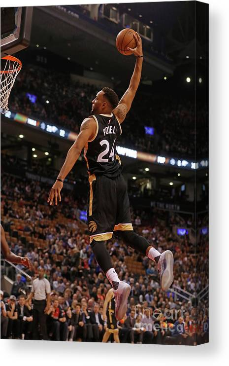 Nba Pro Basketball Canvas Print featuring the photograph Norman Powell by Mark Blinch