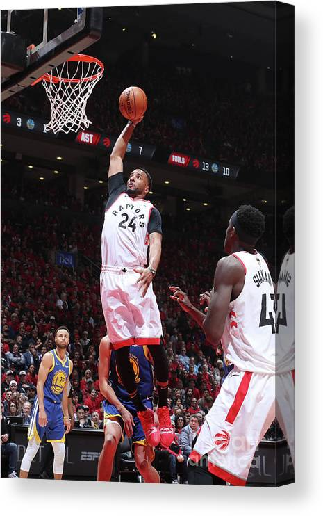 Playoffs Canvas Print featuring the photograph Norman Powell by Nathaniel S. Butler