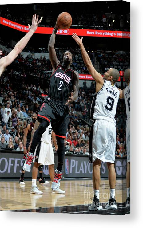 Game Two Canvas Print featuring the photograph Patrick Beverley by Mark Sobhani