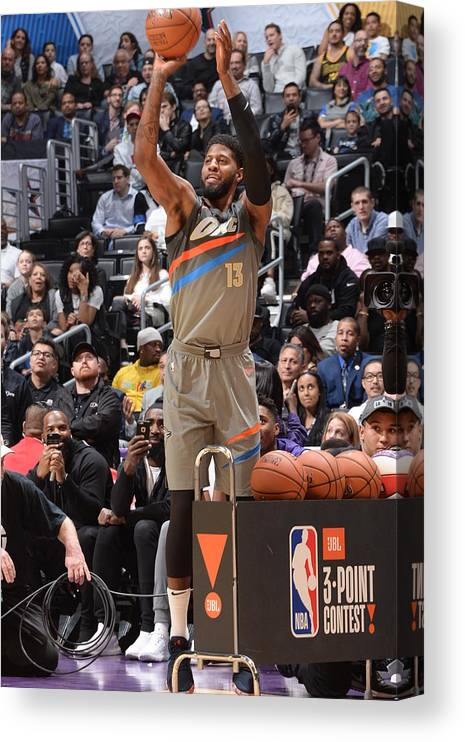 Event Canvas Print featuring the photograph Paul George by Andrew D. Bernstein