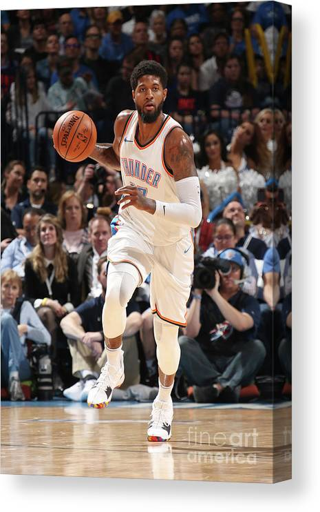 Sports Ball Canvas Print featuring the photograph Paul George by Layne Murdoch